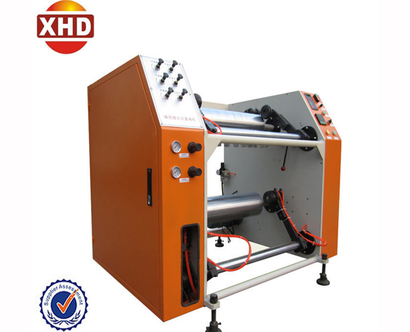 Automatic slitting and rewinding stretch film machine