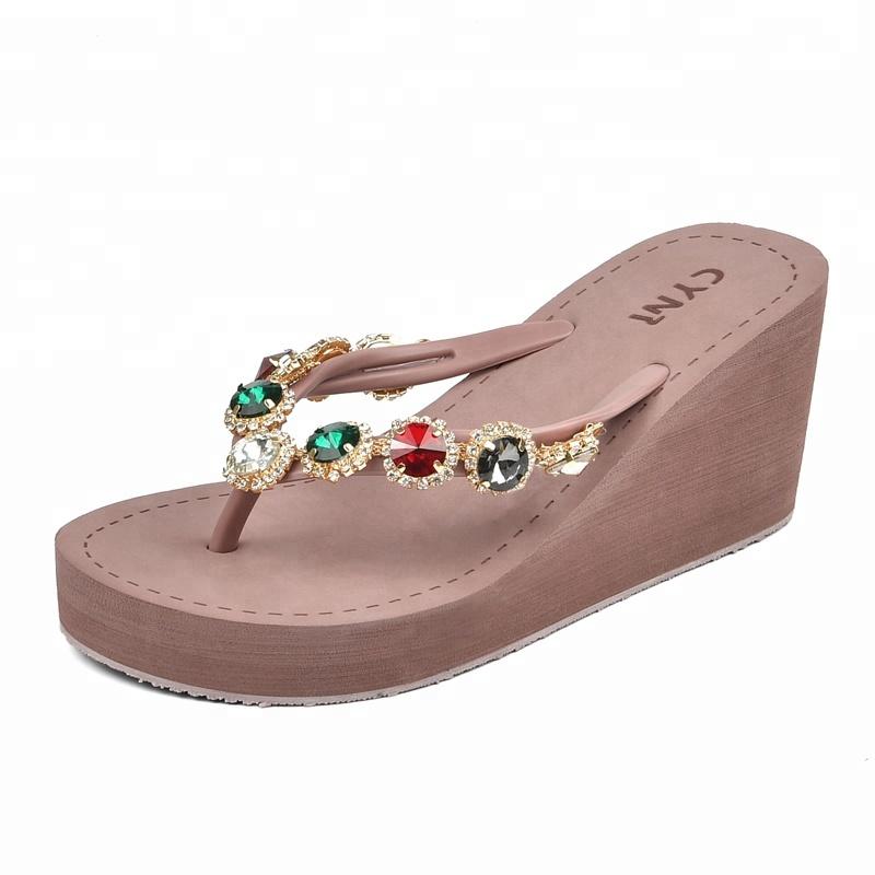 High Heel Eva Rubber Anti-slip Women Beach Fashion Summer Slipper - Buy  Summer Slipper 42fc62a31e85