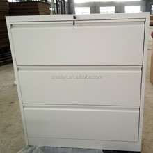 White color 3 drawer lateral file cabinet