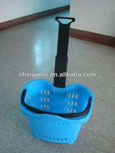shopping plastic caddy with handle