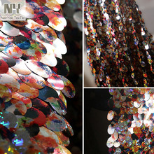 Nanyee Textile High Class Customized Made Luxury Sequin Fabric