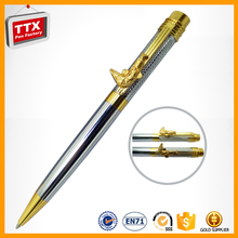 Pen with feather,metal ball-point pen for promotion product