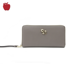 2018 New Arrival Low Price Genuine Leather Ladies Clutch Purse