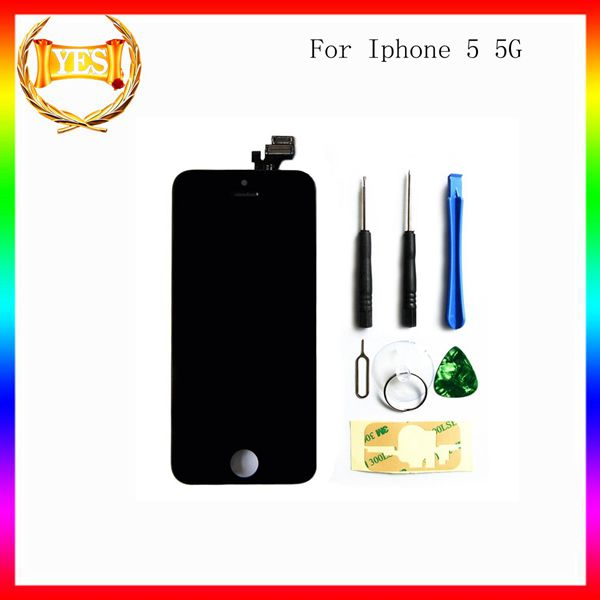 For Iphone 5 5G Black Cell Phone Repair Lcd Part