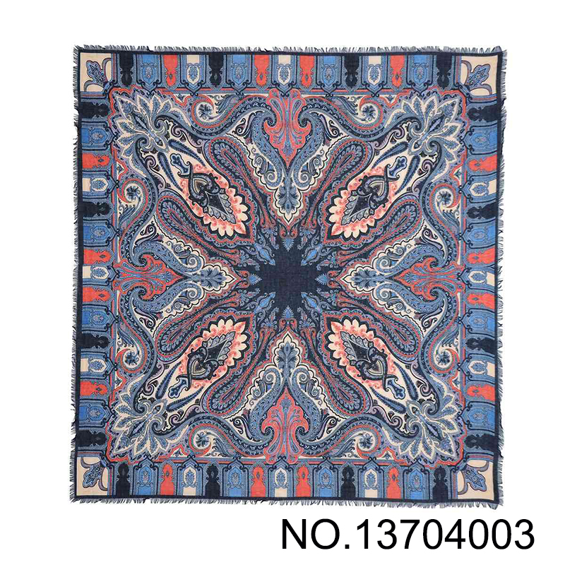 SS 2017 New Paisley Printed Cotton Scarf