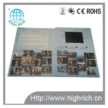 Promotional luxury invitation card with LCD screen