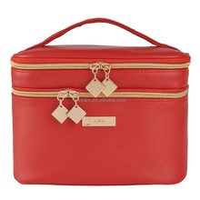 New Fashion PU Leather Makeup Box Outdoor Toiletries Cosmetic Organizer Jewelry Case 22x16x16cm Cosmetic Bag Makeup Boxes