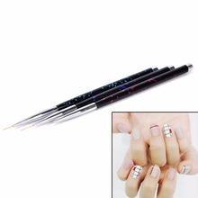 3Pcs Nail Art Lines Painting Pen Brush Set Gel Polish Tips Flower 3D Design Manicure Pedicure Professional Drawing Tool set