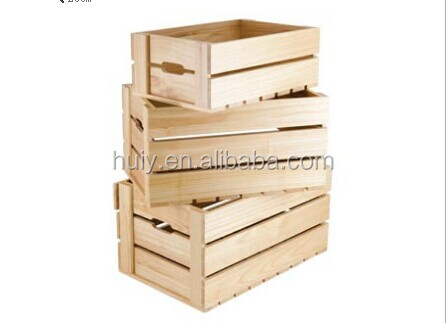 China Supplier Antique Wood Fruit Box Crate Wholesale