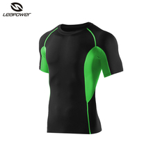men sports raglan sleeve short compression t shirts