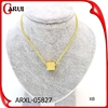 wholesale fashion jewelry square diamonds gold necklace accessories for women