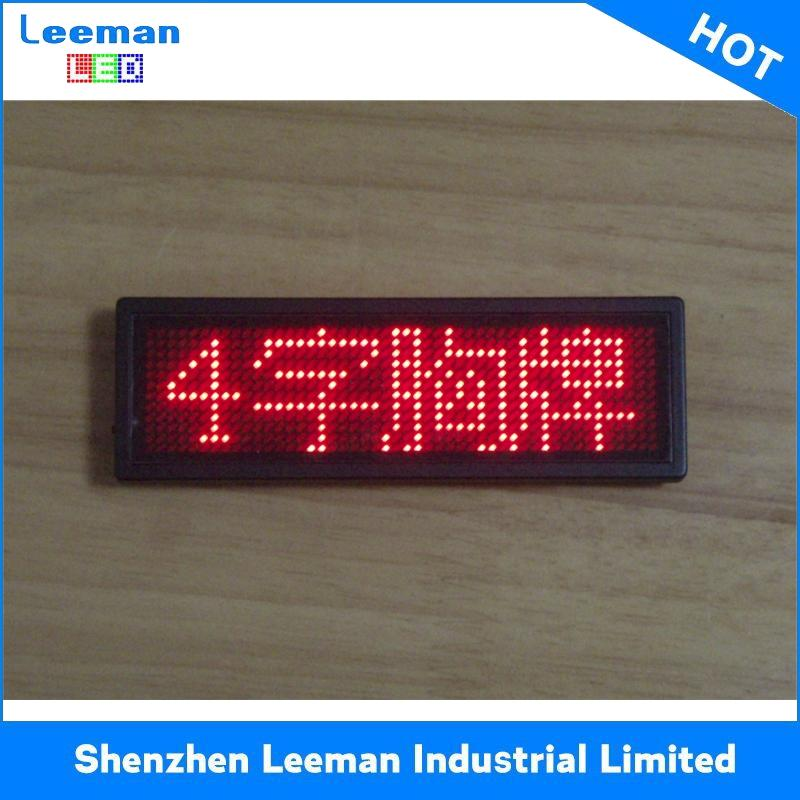 bluetooth led name tag program moving message portable variable message signs