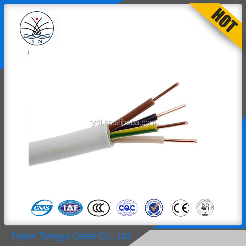 450 750V China factory price 1.5mm2 2.5mm2 wholesale electrical wire flexible insulated PVC electric cable