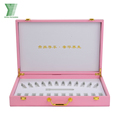 Wholesale custom pink pu leather makeup cosmetic packing box