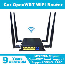 4g car router wifi with sim card slot and 2 external antenna