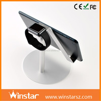 Hot selling aluminum tablet stand cell phone sticker holder holder for apple Watch iPad mini 2 3 4 Air Air 2 3 4