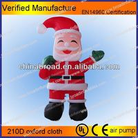 Hot-selling christmas decoration inflatable xmas santa deer