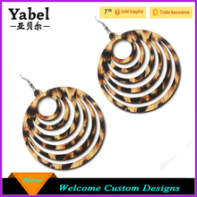 New Arrival Earrings Packaging Latest Design Bohemian Vintage Earrings Retro Leopard Alloy Earrings