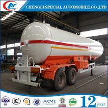 Good performance 2016 factory sale 35m3 LPG tank semi-trailer 2 axles use for propane butane For south-america market