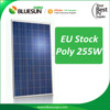 Free dumping 255wp EU Stock solar panel poly 255 watt photovoltaic solar panel module for european market