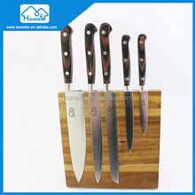 French Style Pakkawood handle Stainless Steel Kitchen Knife Set