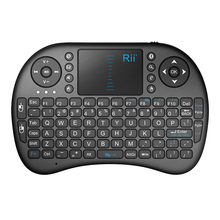 2017 Rii I8 2.4g Wireless Mini Keyboard 92 Keys Gaming With Blue Backlight And Touchpad keyboard stand