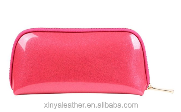 Iridescent Pu Leather Cosmetic Makeup Bag for women