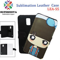 Sublimation Wallet Detachable Magnet Leather Case for Samsung Galaxy S5