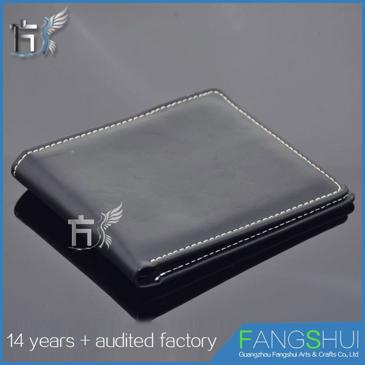 Top quality oem/odm pu bi-fold classic leather men's wallet