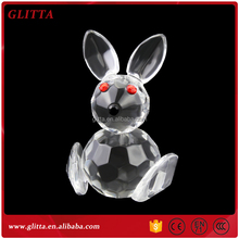 New Arrive crystal animal figurines crystal rabbit,crystal animal baby shower favors CG102