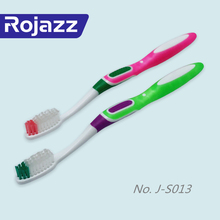 hot sale oral care multi color big rubber handle hard bristle tooth brush