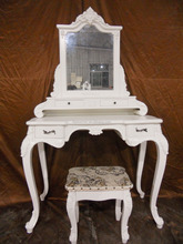 bedroom furniture antique console table with mirror dressing table