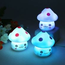 Home Decor Romantic Colorful Lamp LED Mushroom Night Light