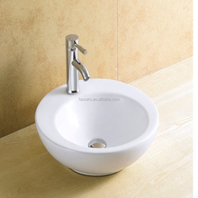 Above Counter Mounted Round Ceramic Wash Basin