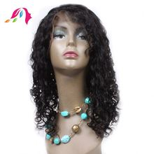 "28"" inch body wave glueless full lace wig with customed bags"