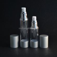cosmetic clear PMMA 15ml 30ml 50ml plastic airless bottle