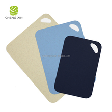 2018 hot sale cheap price different color Natural Wheat Straw plastic fancy chopping boards