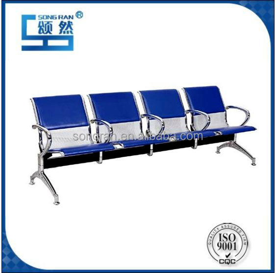 High Quality 4-Seater Airport Waiting Chairs with Cushion Steel Chairs