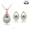 Wholesale Women Fashionable Gold Plated Green