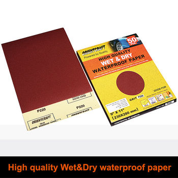 Wet & Dry Silicon carbide Waterproof abrasive Paper