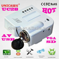 Hottest!!!UC28 1080p pico 3d projector