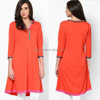 ladies wholesale ethnic clothing cotton kurta neck designs