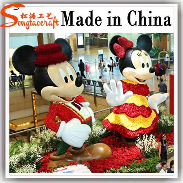 outdoor mickey mouse mug christmas decorations - Fiberglass Christmas Decorations