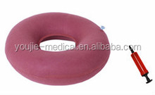 Hot sale cheap blood inflatable ring pillow with pump