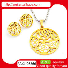 2014 wholesale cheap gold plating women fashion jewelry set for women