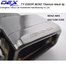 Car titanium black tip ben z e63 w221 exhaust pipe