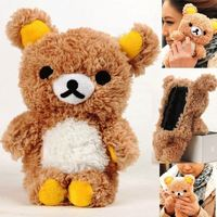 Warm Winter Lovely 3D Teddy Bear Doll Toy Plush Soft phone Case For Iphone 4 4s 5 5s I6 For Samsung Galaxy S3 S4 cell