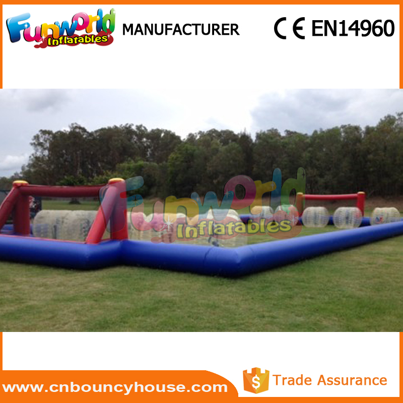 Hot Inflatable Soccer Ball inflatable soccer field for rent
