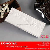 New design classic white decorative silicone rubber for plaster casting cornice mold for ceiling