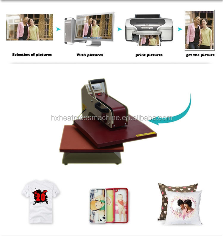 QX-A5 popular size T-Shirt Printing Heat Press Machine for sale textile screen printing machine used